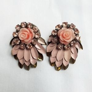 Anthropologie Deepa Gurnani Rose Talon Earrings